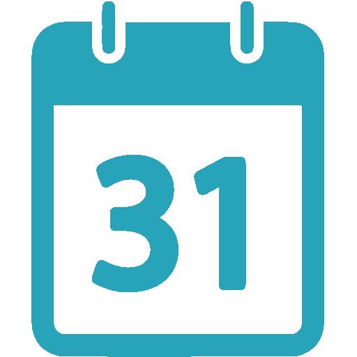 Calendar Icon Blue : Blue calendar png