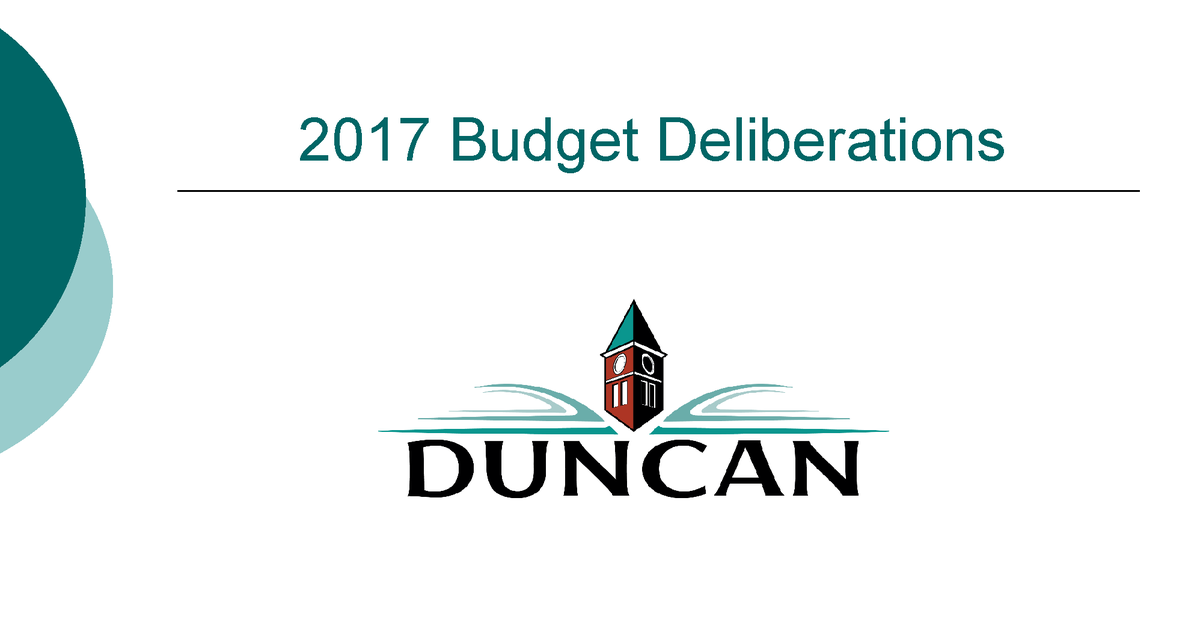 Budget >> PlaceSpeak - City of Duncan - Six Year Budget