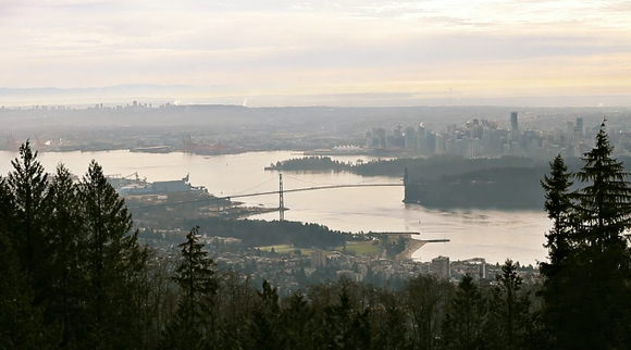 Bird's eye view of metro Vancouver